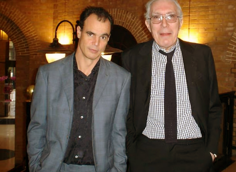Crime writers Jake Arnott and Mark Timlin, 2004